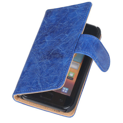 Bestcases Vintage Blauw Book Cover Hoesje voor LG Optimus L5 2 E460
