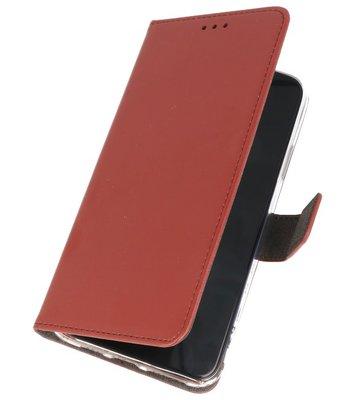 Wallet Cases Hoesje Samsung Galaxy A10s Bruin