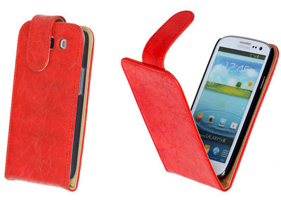 Bestcases Vintage Oranje Flipcase Hoesje voor Samsung Galaxy S3 i9300