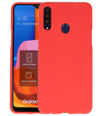 Color Backcover voor Samsung Galaxy A20s Rood