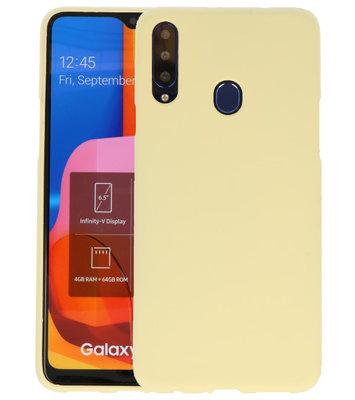 Color Backcover voor Samsung Galaxy A20s Geel