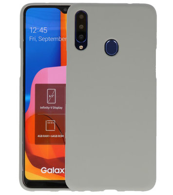 Color Backcover voor Samsung Galaxy A20s Grijs