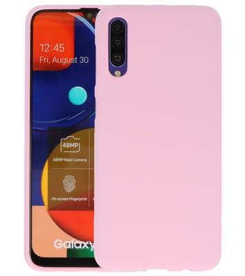 Color Backcover voor Samsung Galaxy A50s Roze