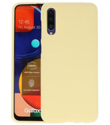 Color Backcover voor Samsung Galaxy A50s Geel