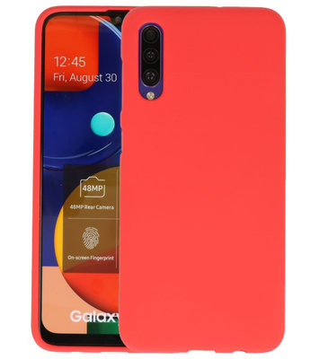 Color Backcover voor Samsung Galaxy A50s Rood