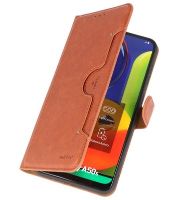 Luxe Portemonnee Hoesje voor Samsung Galaxy A40 Bruin