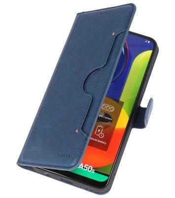 Luxe Portemonnee Hoesje voor Samsung Galaxy A50 Navy