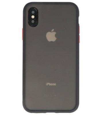 Kleurcombinatie Hard Case voor iPhone X /  XS Zwart