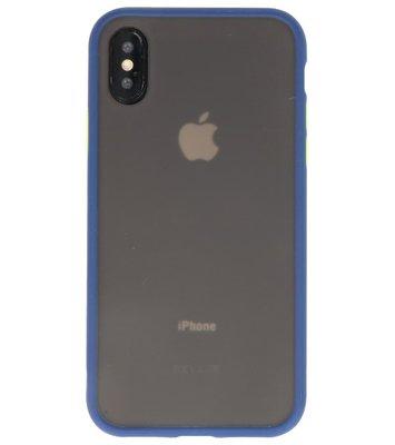 Kleurcombinatie Hard Case voor iPhone X /  XS Blauw