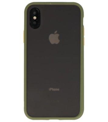 Kleurcombinatie Hard Case voor iPhone X /  XS Groen