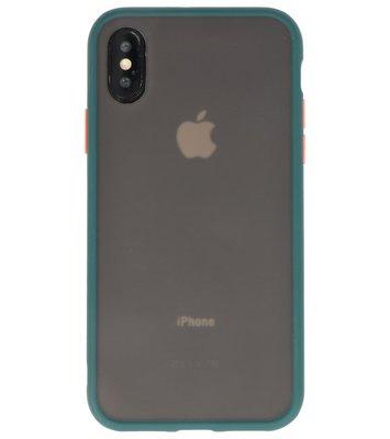 Kleurcombinatie Hard Case voor iPhone X /  XS Donker Groen