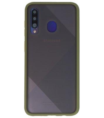 Kleurcombinatie Hard Case voor Samsung Galaxy A50 Groen