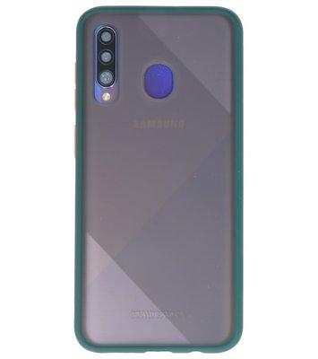 Kleurcombinatie Hard Case voor Samsung Galaxy A50 Donker Groen
