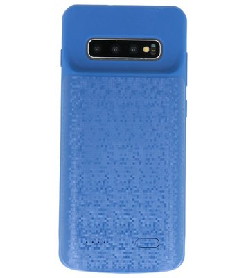 Battery Power Case voor Samsung Galaxy S10 Plus Blauw