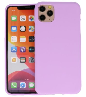 Color Backcover voor iPhone 11 Pro Max Paars