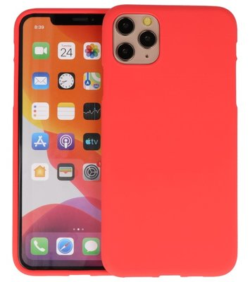 Color Backcover voor iPhone 11 Pro Max Rood
