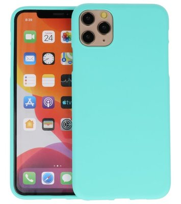 Color Backcover voor iPhone 11 Pro Turquoise