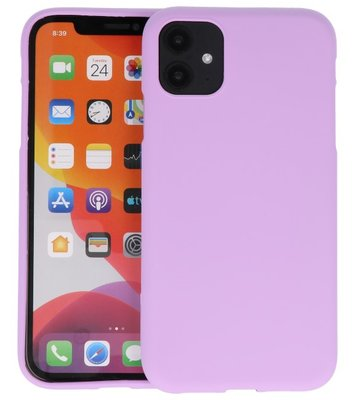 Color Backcover voor iPhone 11 Paars