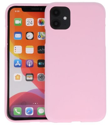 Color Backcover voor iPhone 11 Roze