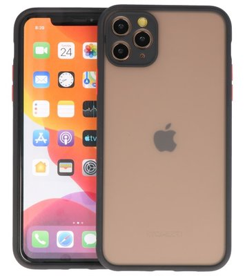 Kleurcombinatie Hard Case voor iPhone 11 Pro Max Zwart