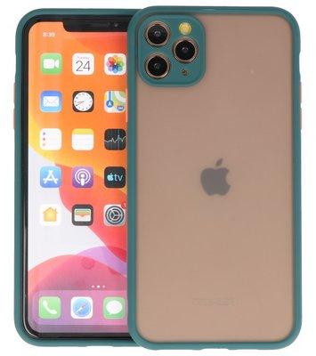 Kleurcombinatie Hard Case voor iPhone 11 Pro Max Donker Groen