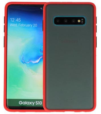 Kleurcombinatie Hard Case voor Samsung Galaxy S10 Rood