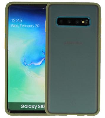 Kleurcombinatie Hard Case voor Samsung Galaxy S10 Groen