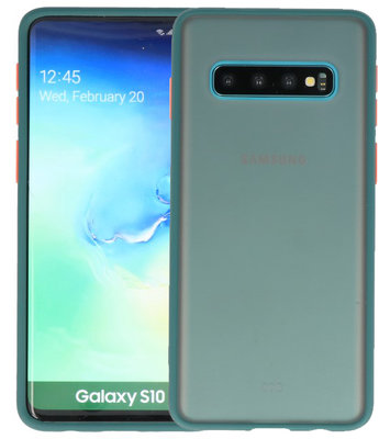 Kleurcombinatie Hard Case voor Samsung Galaxy S10 Donker Groen