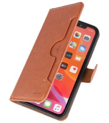 Luxe Portemonnee Hoesje voor iPhone 11 Pro Max Bruin