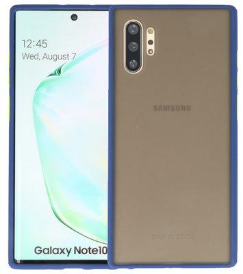 Kleurcombinatie Hard Case voor Samsung Galaxy Note 10 Plus Blauw