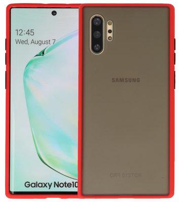 Kleurcombinatie Hard Case voor Samsung Galaxy Note 10 Plus Rood
