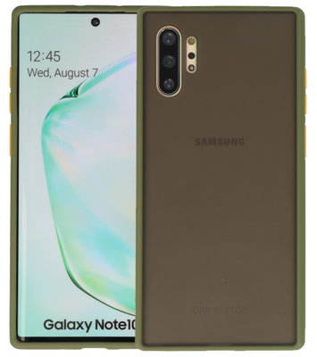 Kleurcombinatie Hard Case voor Samsung Galaxy Note 10 Plus Groen