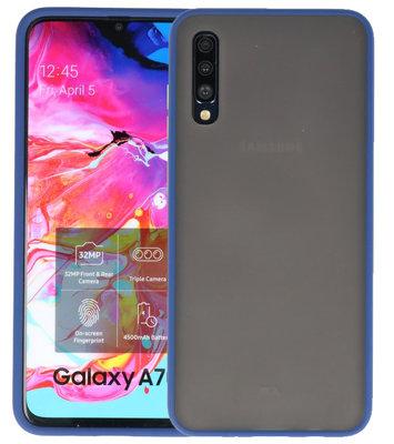 Kleurcombinatie Hard Case voor Samsung Galaxy A70 Blauw