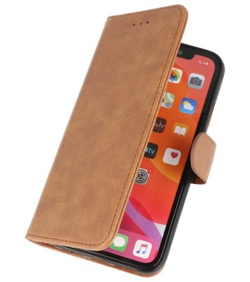 Bookstyle Wallet Cases Hoes voor iPhone 11 Bruin