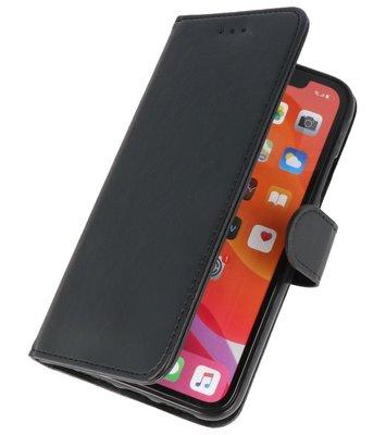 Bookstyle Wallet Cases Hoes voor iPhone 11 Pro Max Zwart