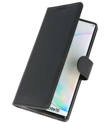 Bookstyle Wallet Cases Hoes voor Samsung Galaxy Note 10 Zwart