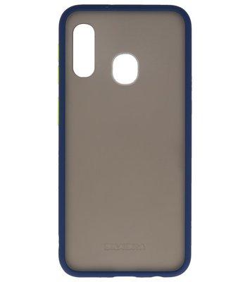 Kleurcombinatie Hard Case voor Samsung Galaxy A40 Blauw