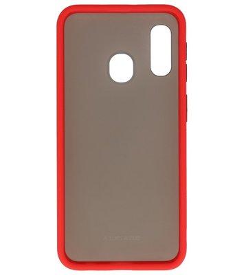 Kleurcombinatie Hard Case voor Samsung Galaxy A40 Rood