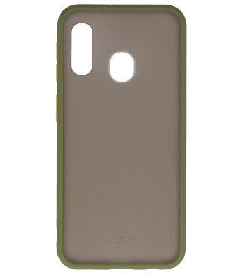 Kleurcombinatie Hard Case voor Samsung Galaxy A40 Groen