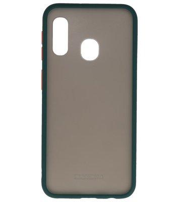 Kleurcombinatie Hard Case voor Samsung Galaxy A40 Donker Groen