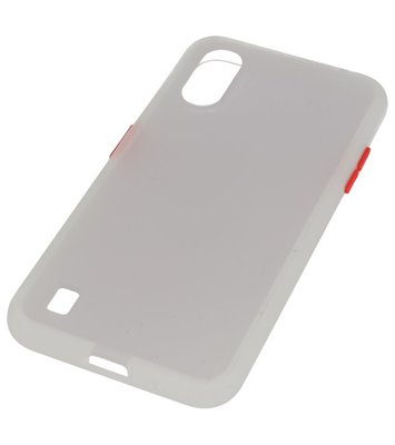 Kleurcombinatie Hard Case voor Samsung Galaxy A01 Transparant
