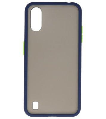 Kleurcombinatie Hard Case voor Samsung Galaxy A01 Blauw