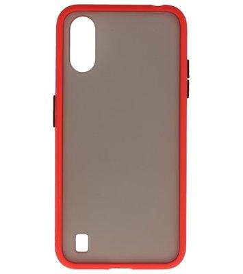 Kleurcombinatie Hard Case voor Samsung Galaxy A01 Rood