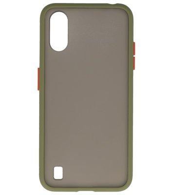 Kleurcombinatie Hard Case voor Samsung Galaxy A01 Groen