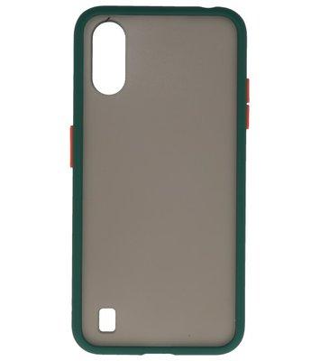 Kleurcombinatie Hard Case voor Samsung Galaxy A01 Donker Groen