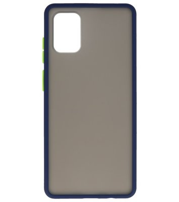 Kleurcombinatie Hard Case voor Samsung Galaxy A71 Blauw