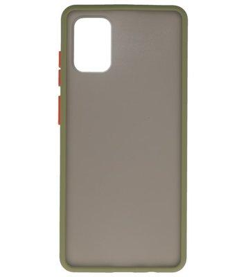 Kleurcombinatie Hard Case voor Samsung Galaxy A71 Groen