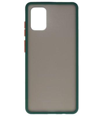 Kleurcombinatie Hard Case voor Samsung Galaxy A71 Donker Groen