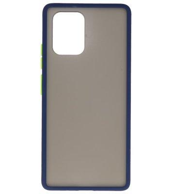 Kleurcombinatie Hard Case voor Samsung Galaxy A81 Blauw