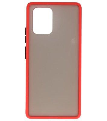 Kleurcombinatie Hard Case voor Samsung Galaxy A81 Rood